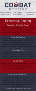 Residential Roofing Infographic